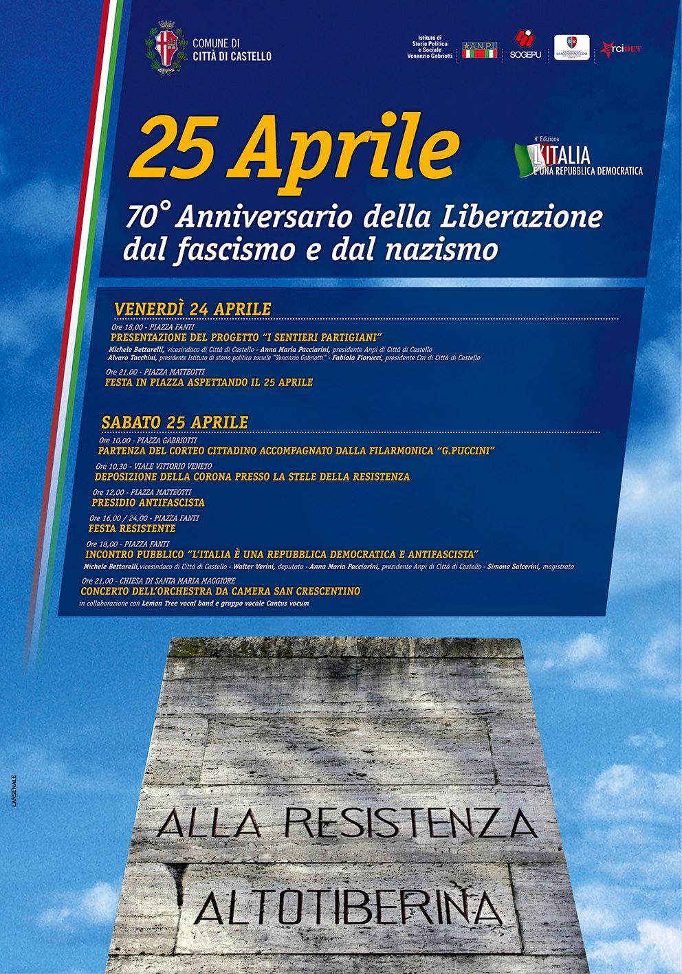 programma 70 liberazione 25 aprile 2015